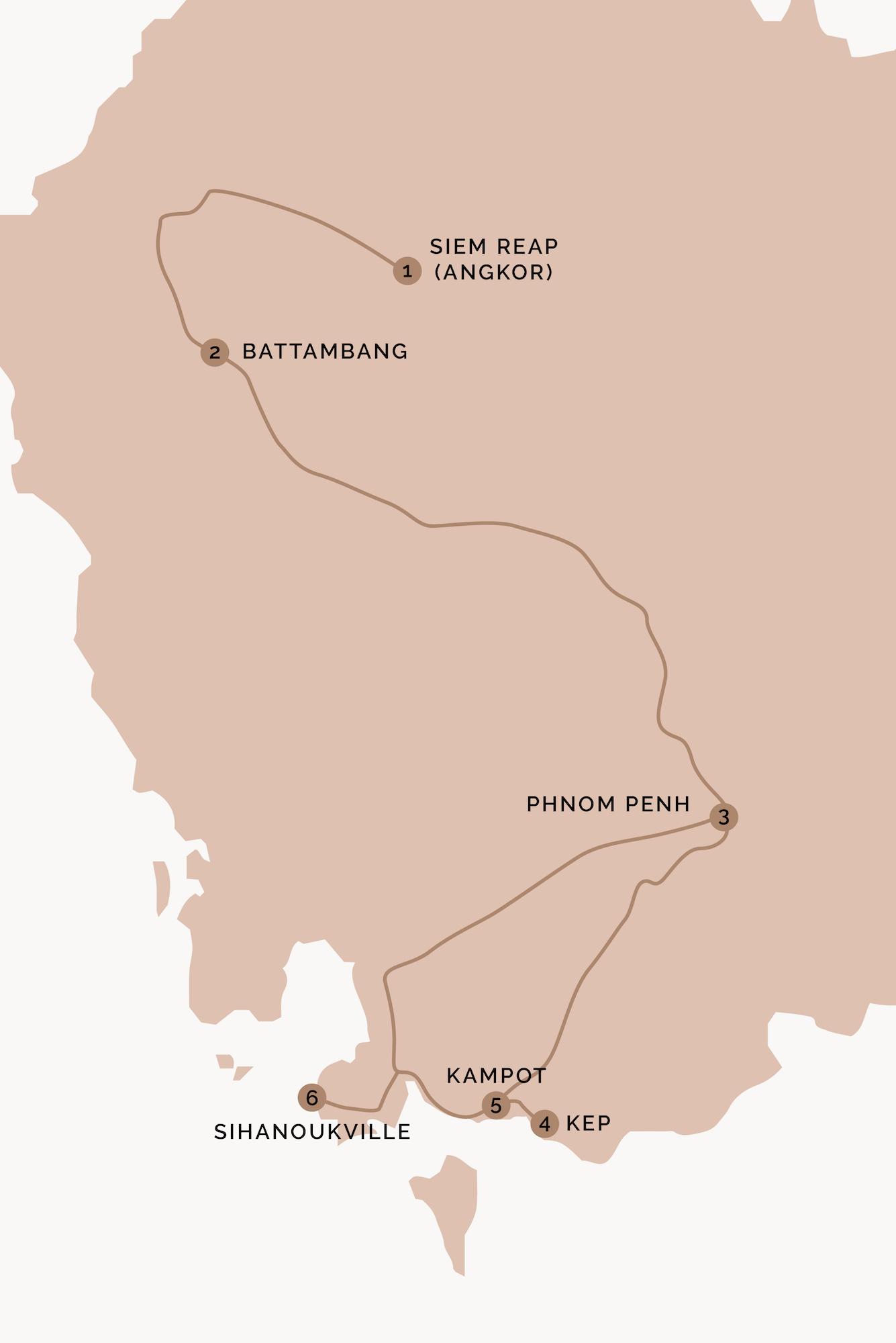 itinerary Cambodia