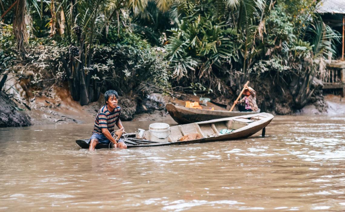 Fischerdorf Mekong Delta