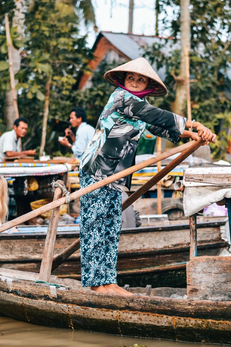 Schwimmende Märkte Mekong Delta