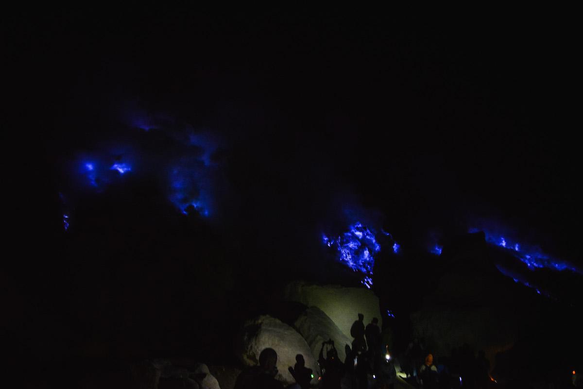 Ijen Vulkan blaues Feuer