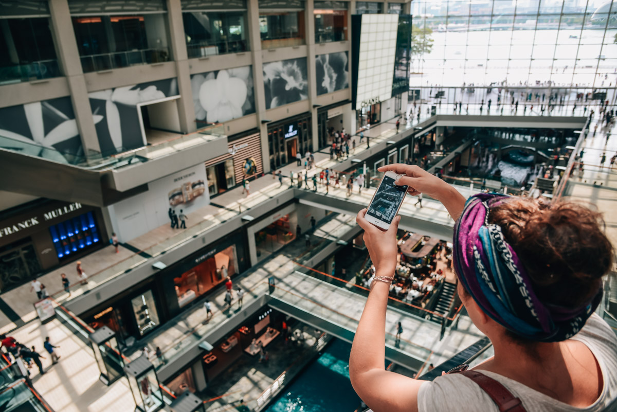 Singapur-Einkaufszentrum