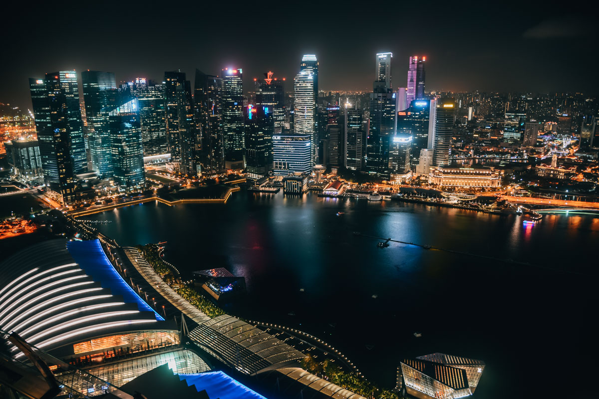 Singapur Skybar Cé La Vi