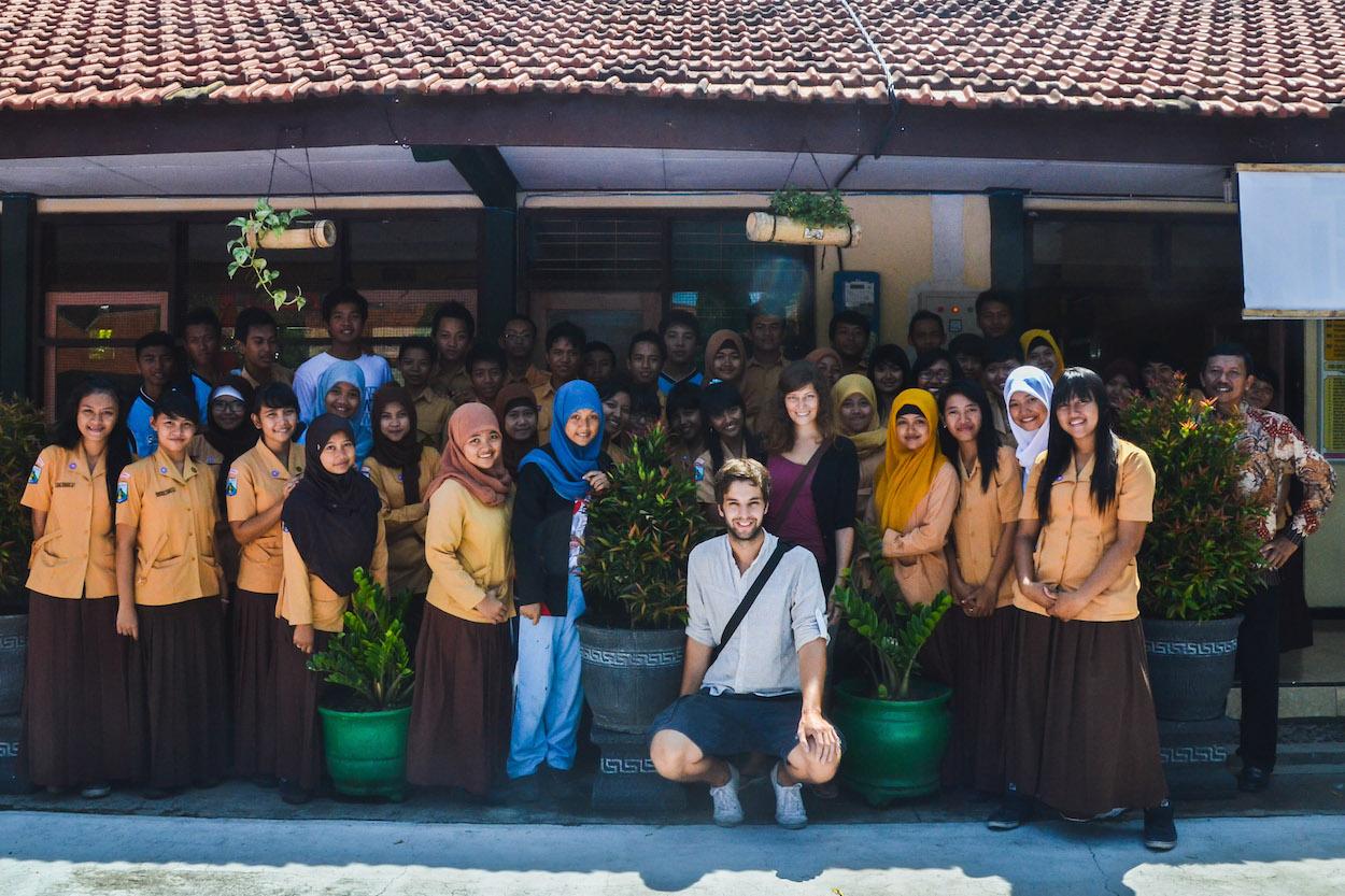 Indonesien-Klassenfoto