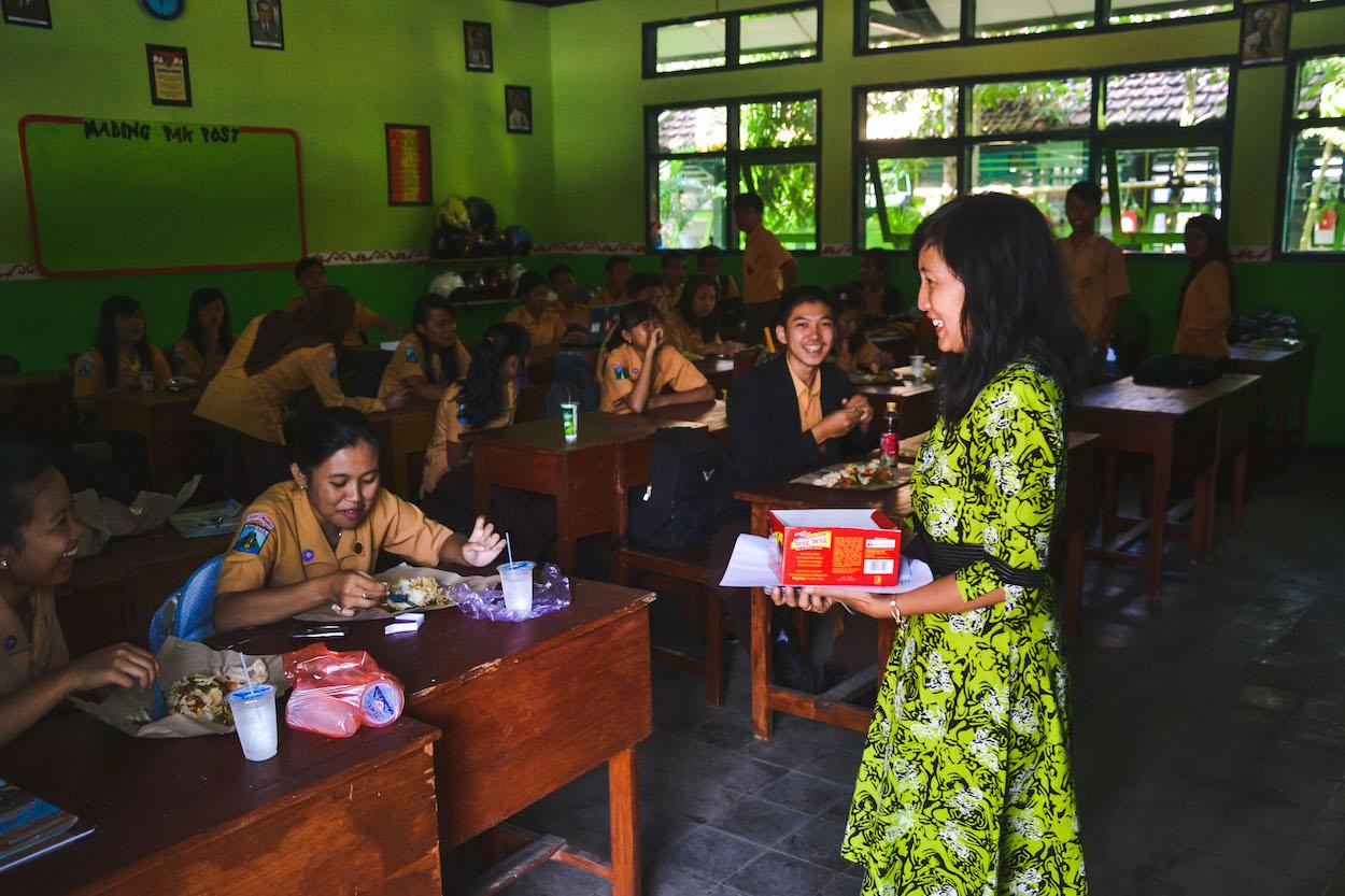 Indonesien-Schule-unterrichten