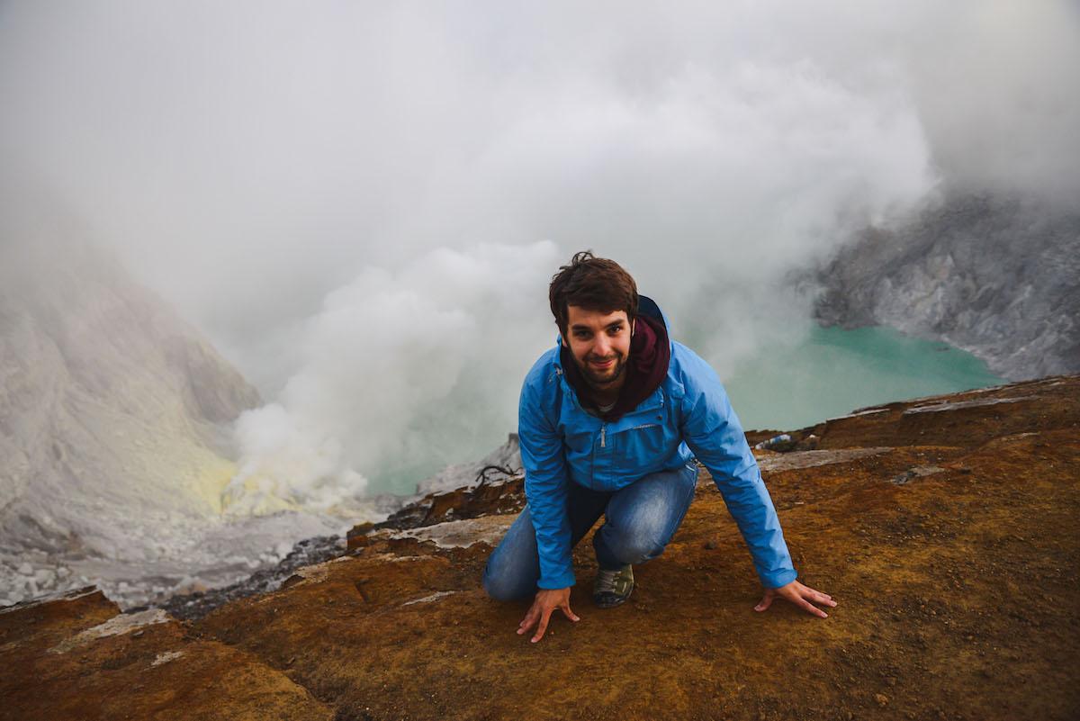 Ijen-Vulkan-Kraterrand