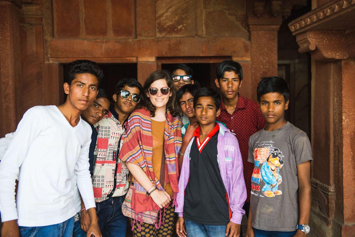 Jugendgruppe-Indien