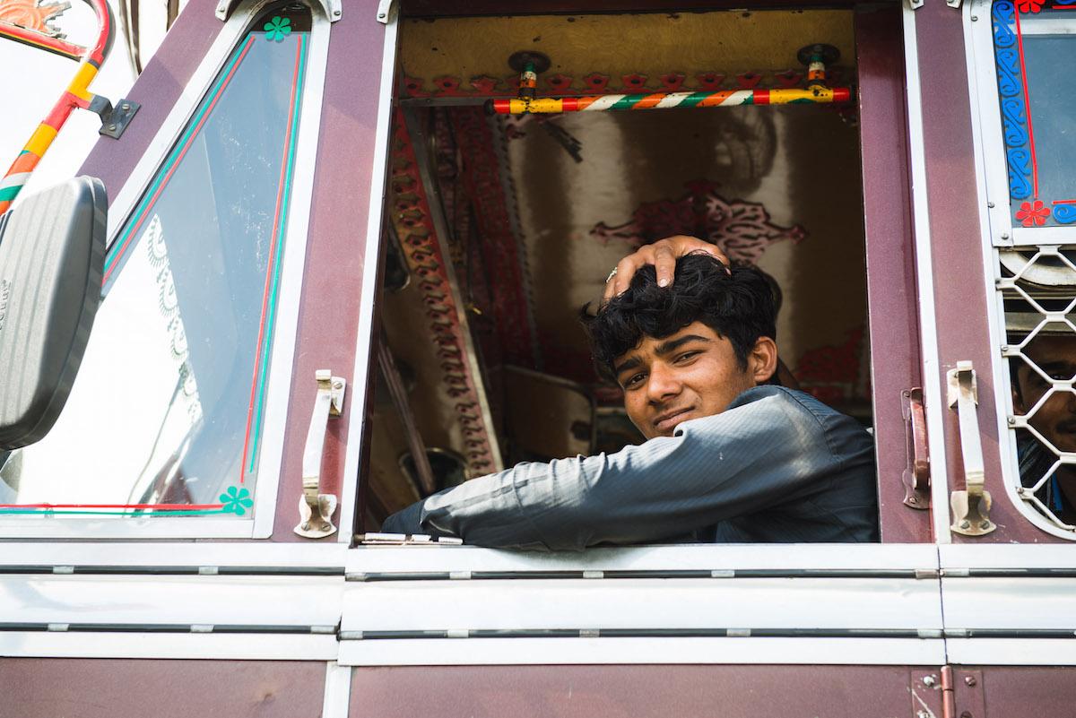 LKW-Fahrer-Indien