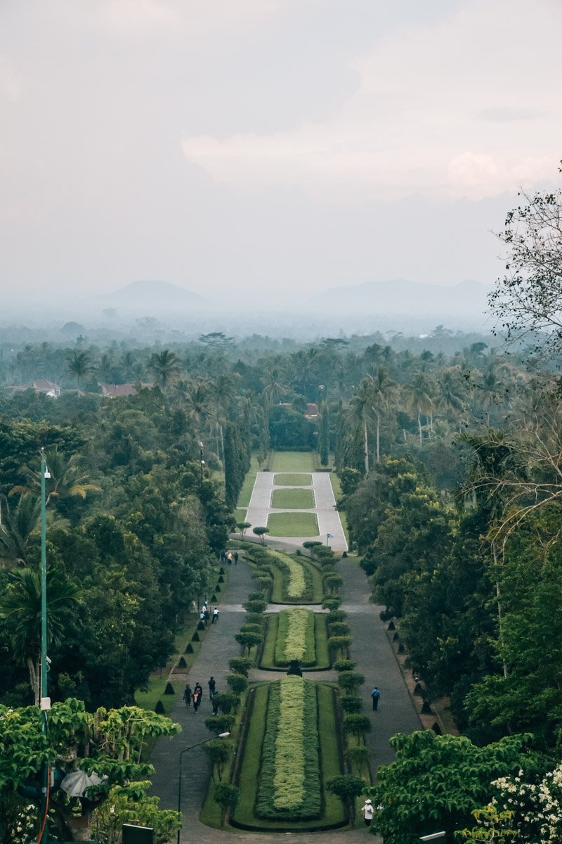Borobudur Ausblick