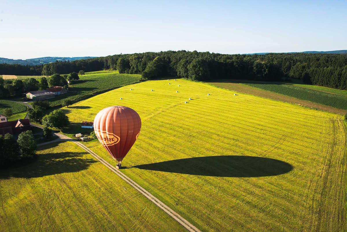 Ballonfahren-Landung