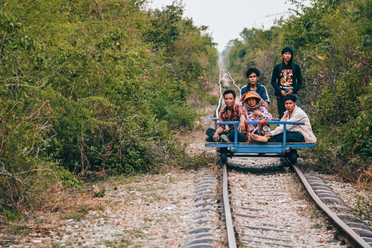 Bambuszug-Kambodscha