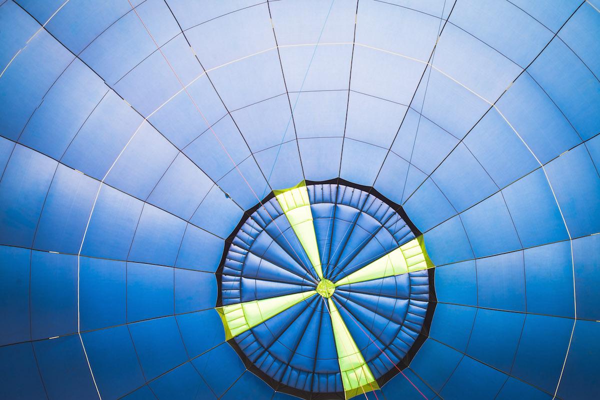 Heißluftballon-Stoff