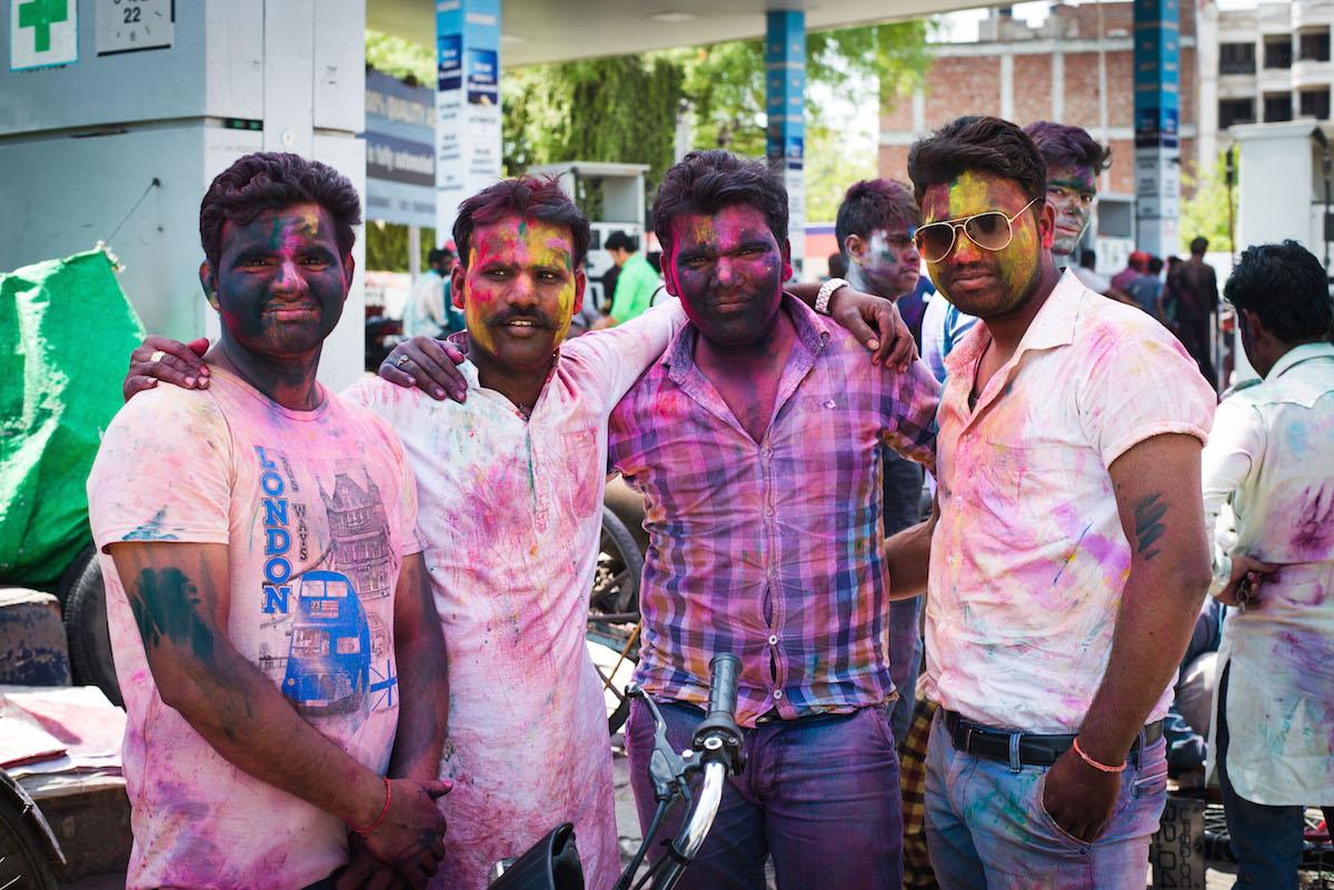 Holi-Indien-Männer