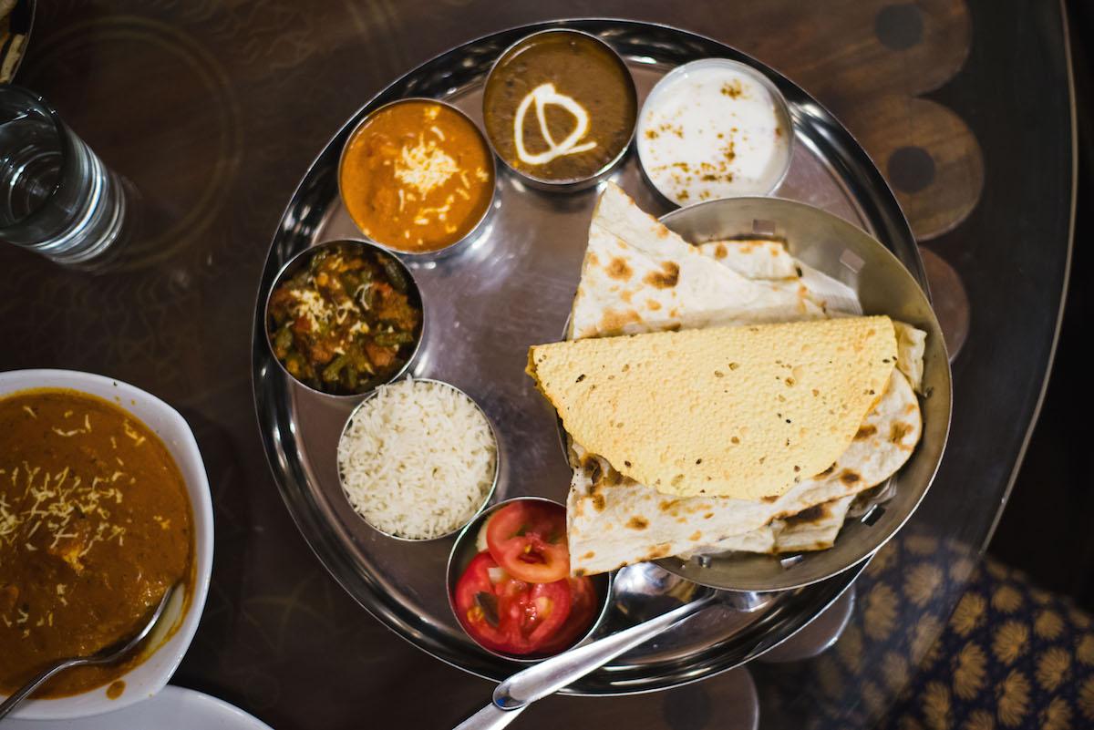 Indien-Essen-Thali
