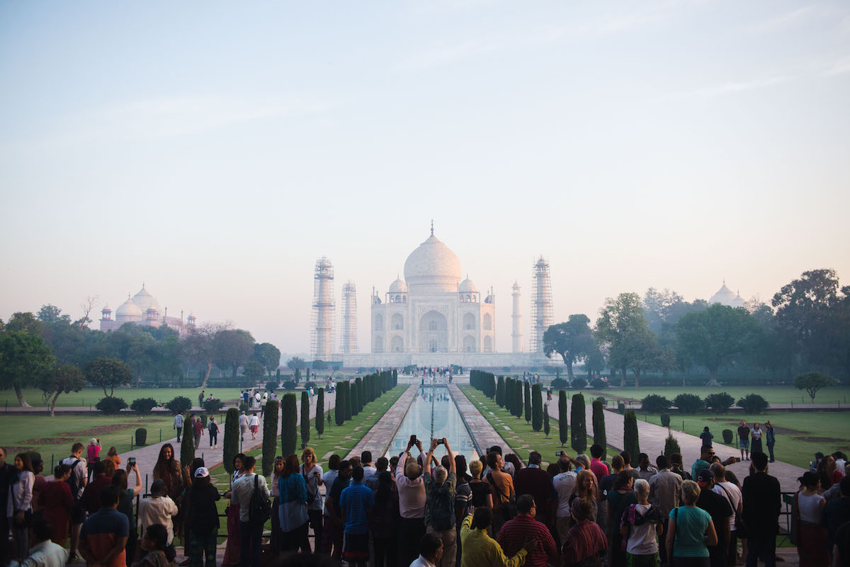 Taj-Mahal-Menschenmassen