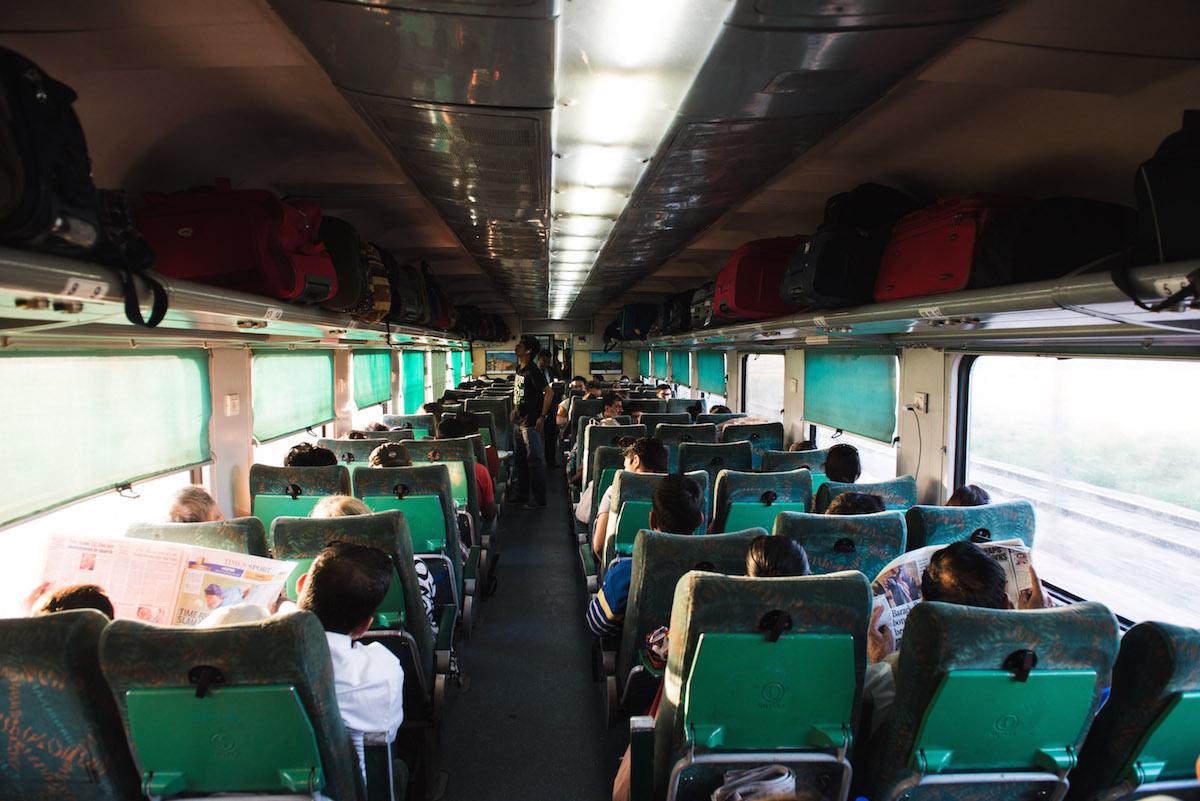 Zugfahren-Indien