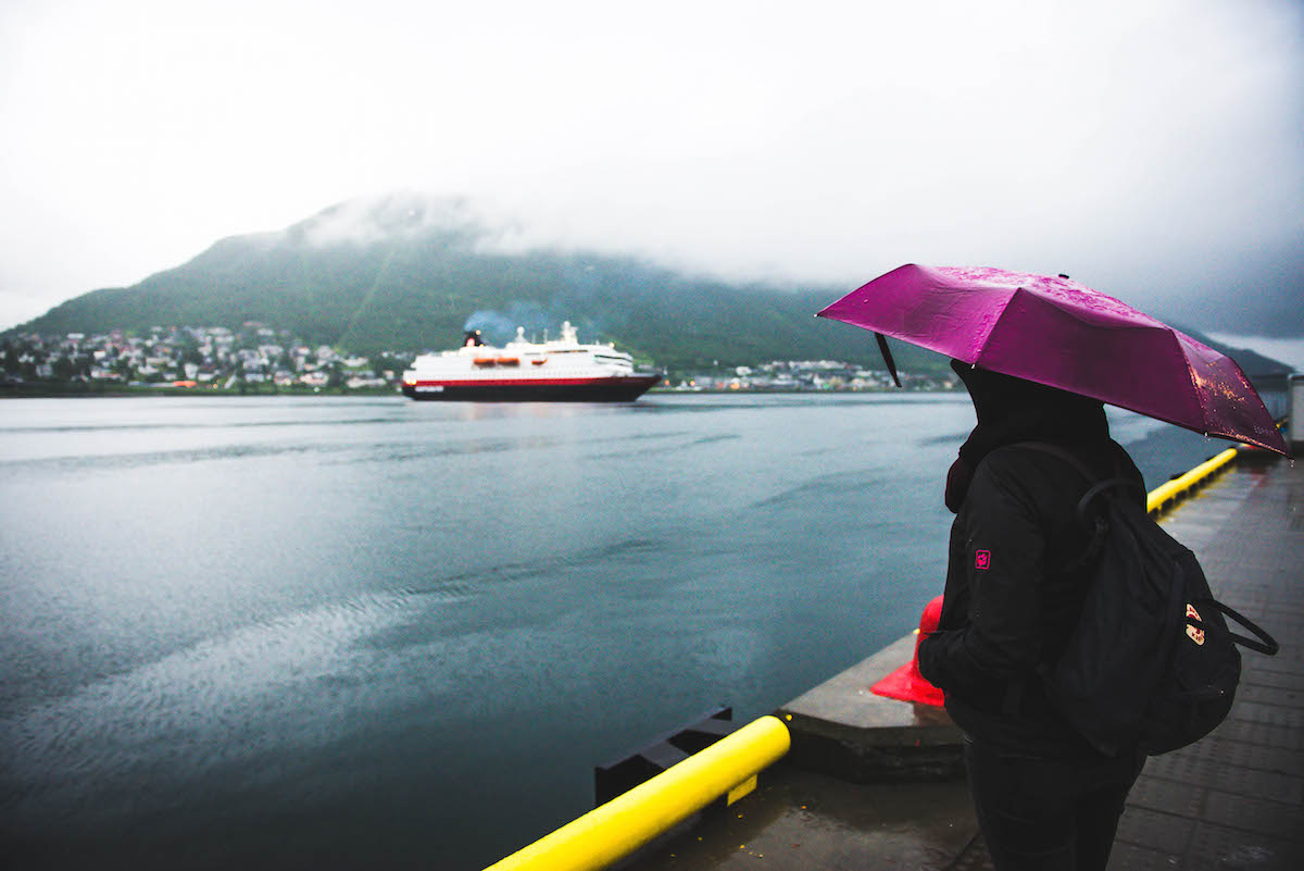 Hurtigruten-Ankunft-Tromso