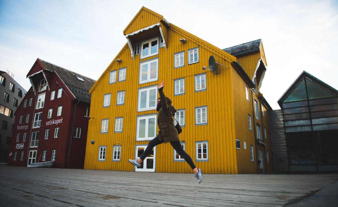 Norwegen bunte Häuser