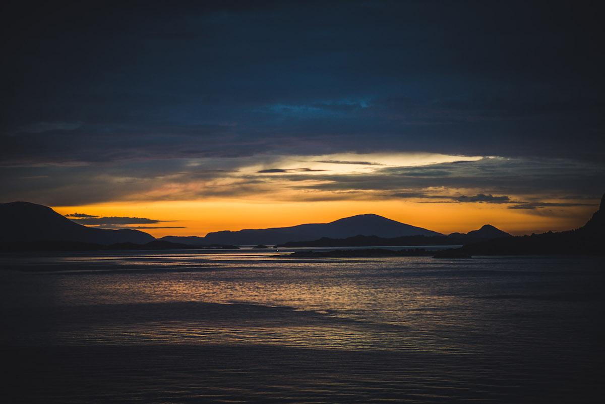Sonnenuntergang-Norwegen