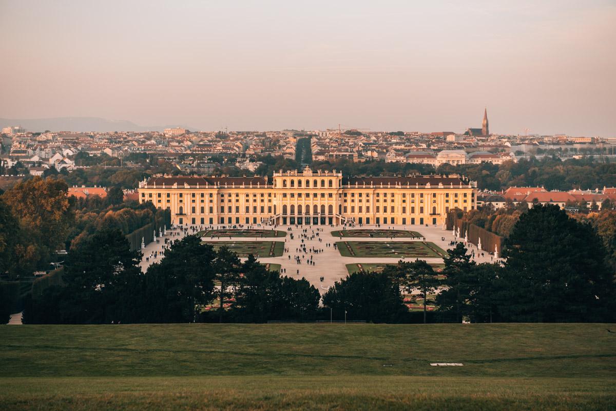 Aussicht Gloriette Schönbrunn