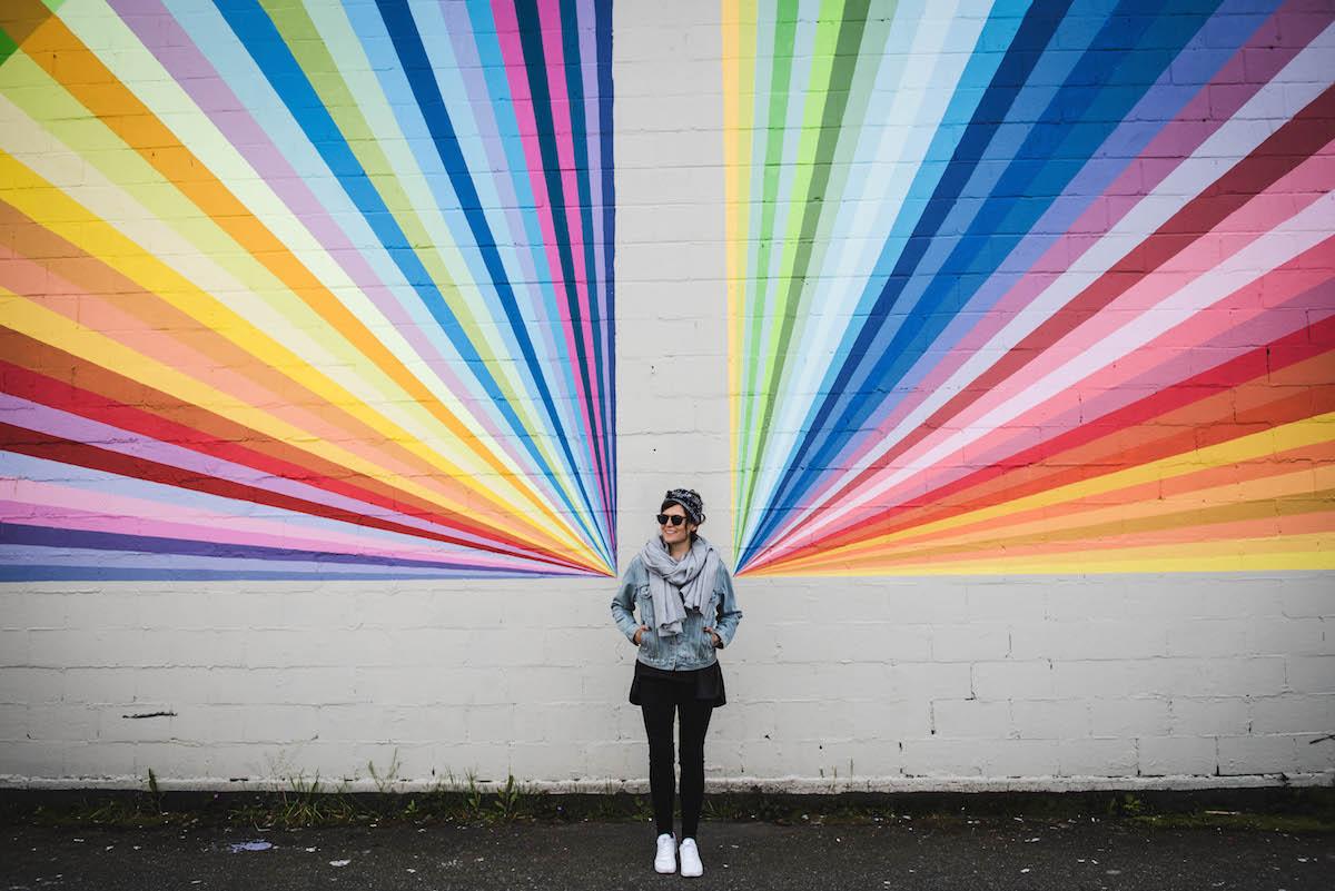 Vancouver Graffiti Strahlen