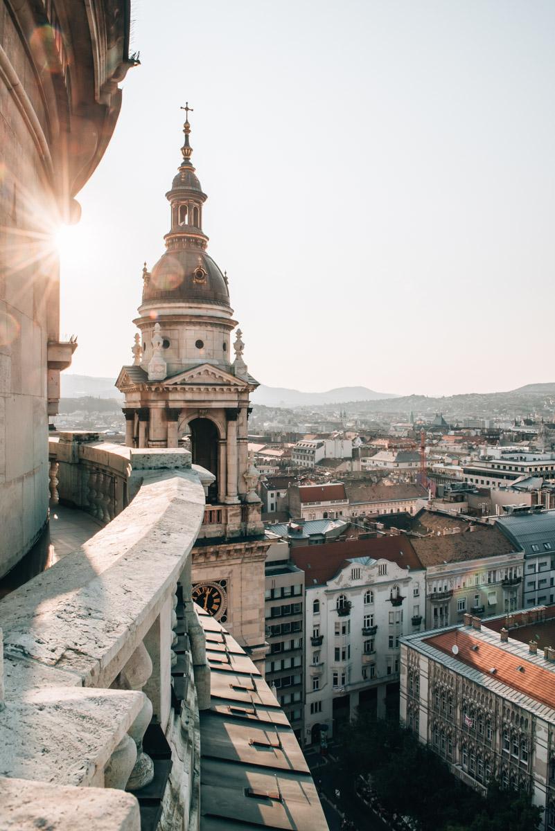 Ausblick Budapest Sonnenuntergang