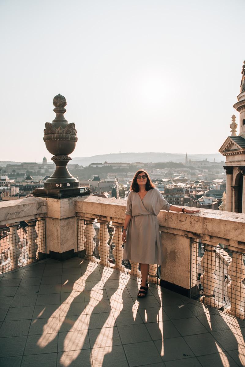 Aussicht Budapest Sonnenuntergang