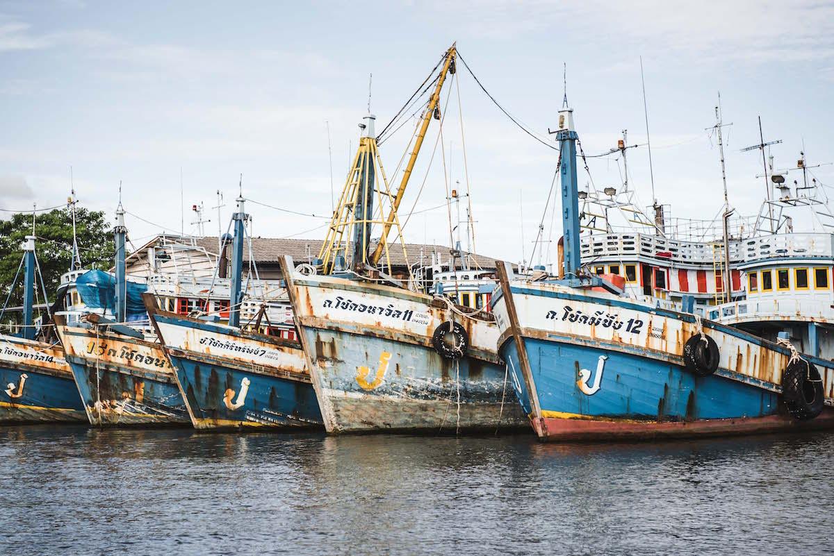 Thailand alte Fischerboote