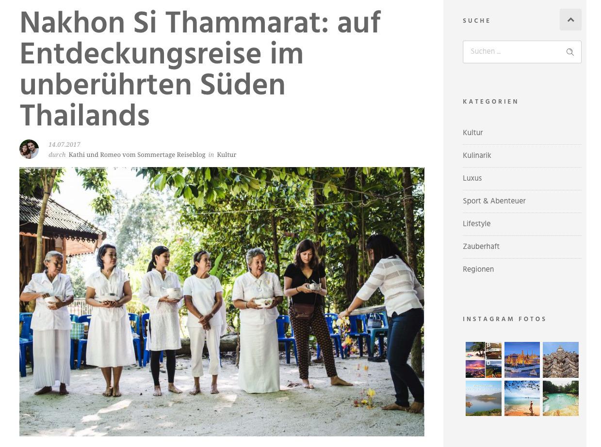 Blogpost Thailand Tourism Board Sommertage