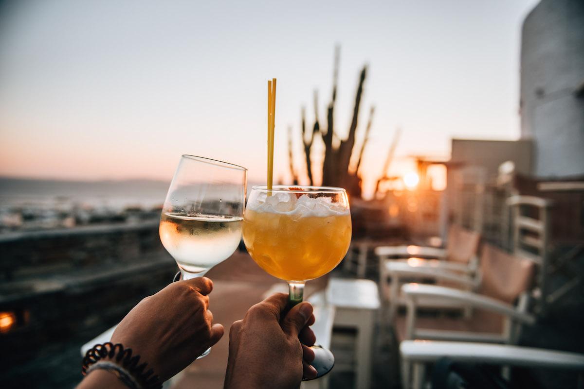 Bar Sonnenuntergang Tinos