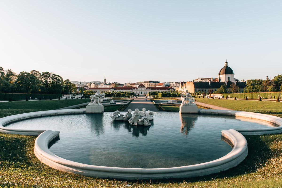 Belvedere Wien Ausblick