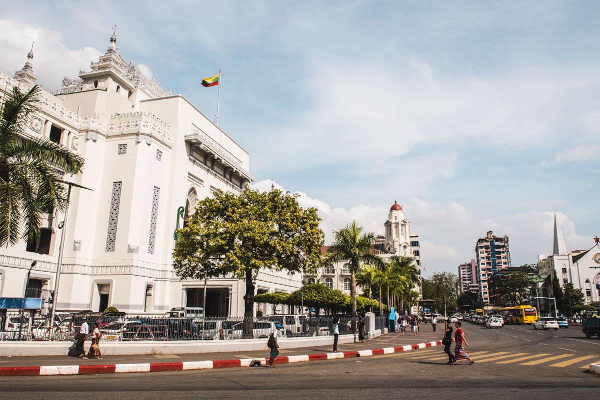 Kolonialgebäude Yangon