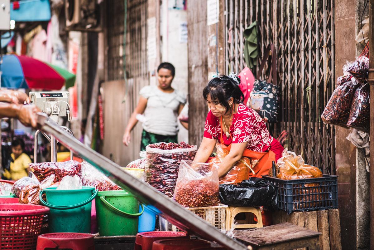 Markt Yangon Tipps