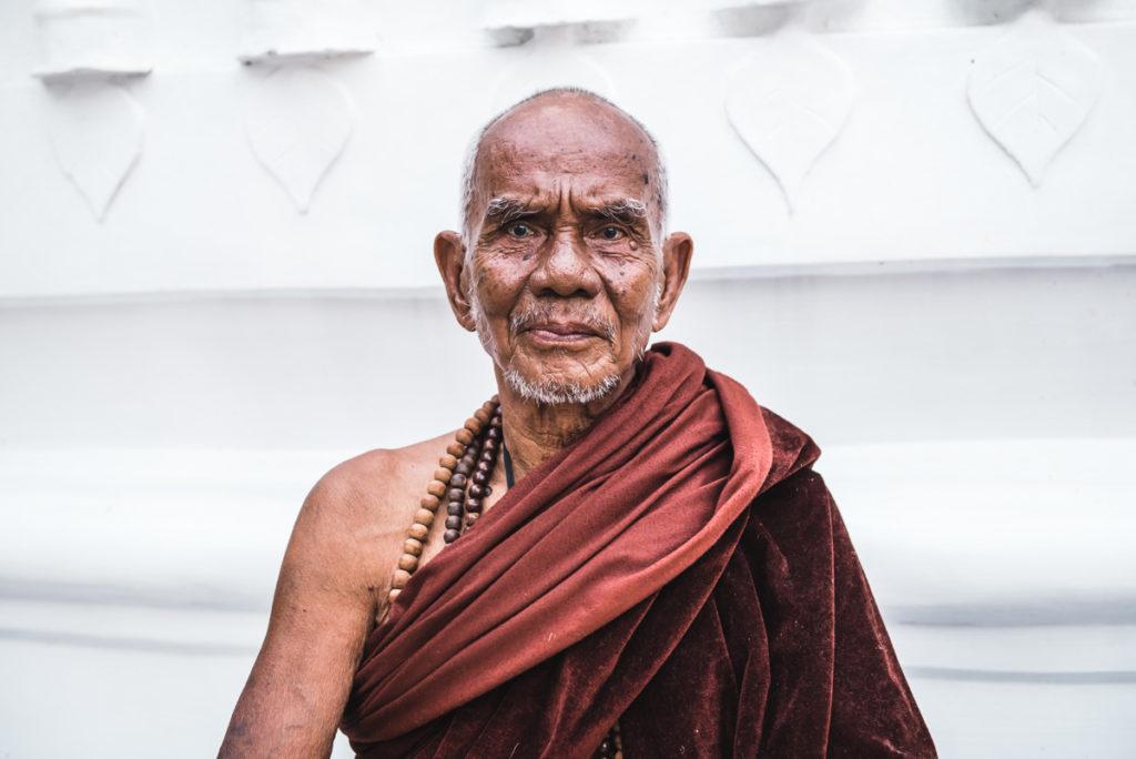 Shwedagon Pagode Mönch