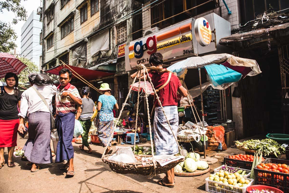 Yangon Chinatown Markt