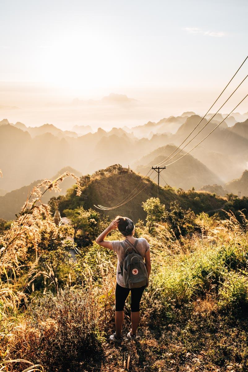 Mount Zwekabin Sonnenaufgang