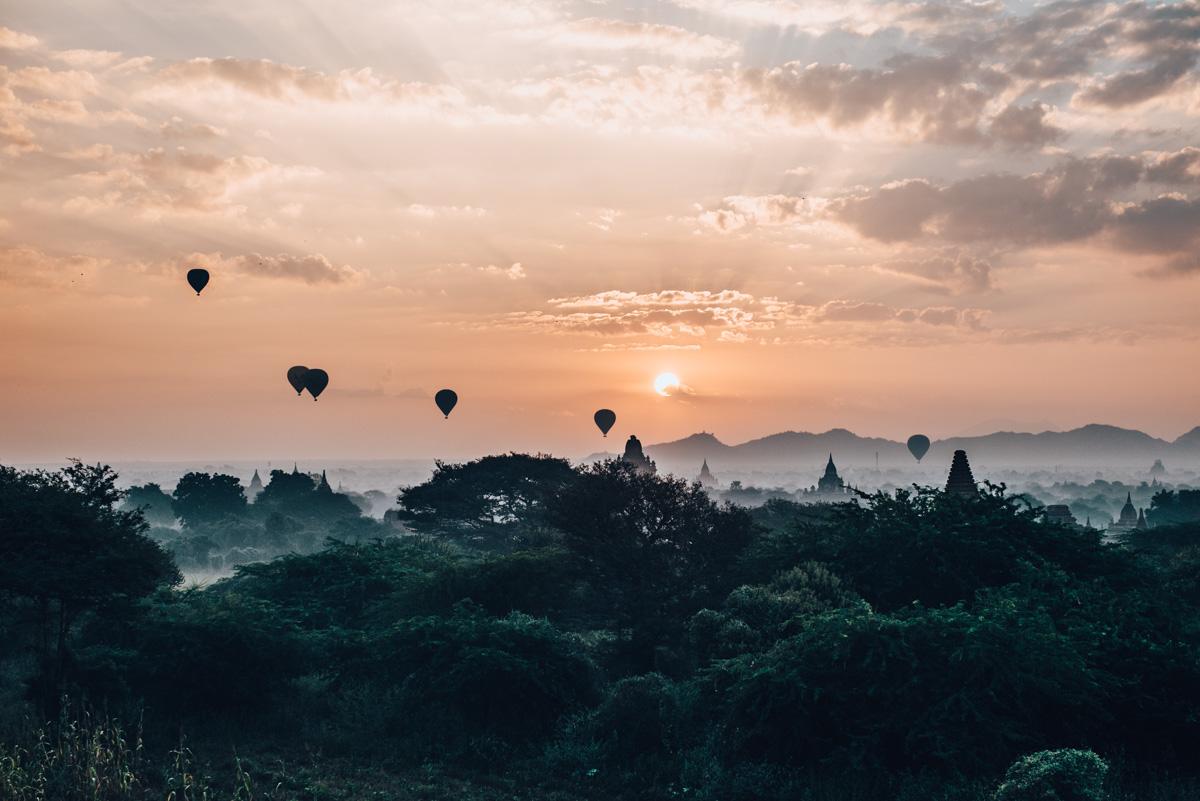 Sonnenaufgang Bagan Pagode Tipps