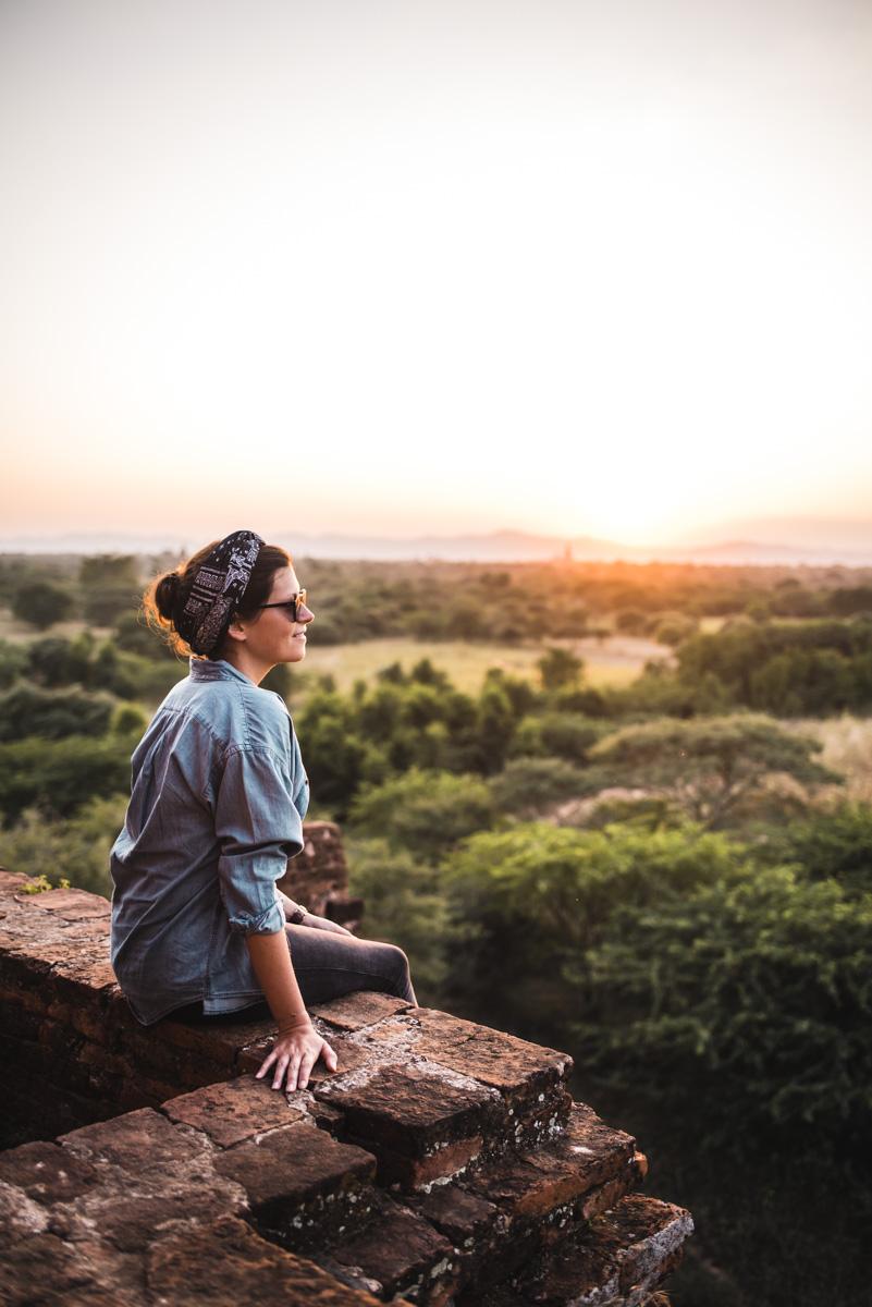 Sonnenuntergang Bagan Pagode Tipps