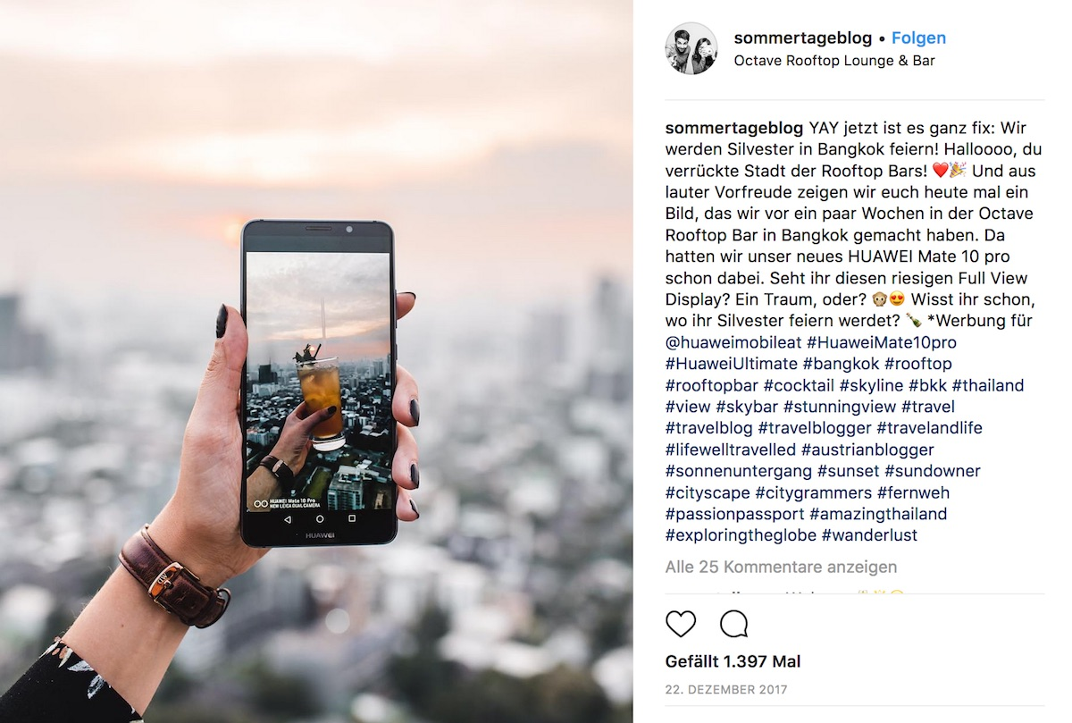Collaboration Huawei Instagram Sommertage