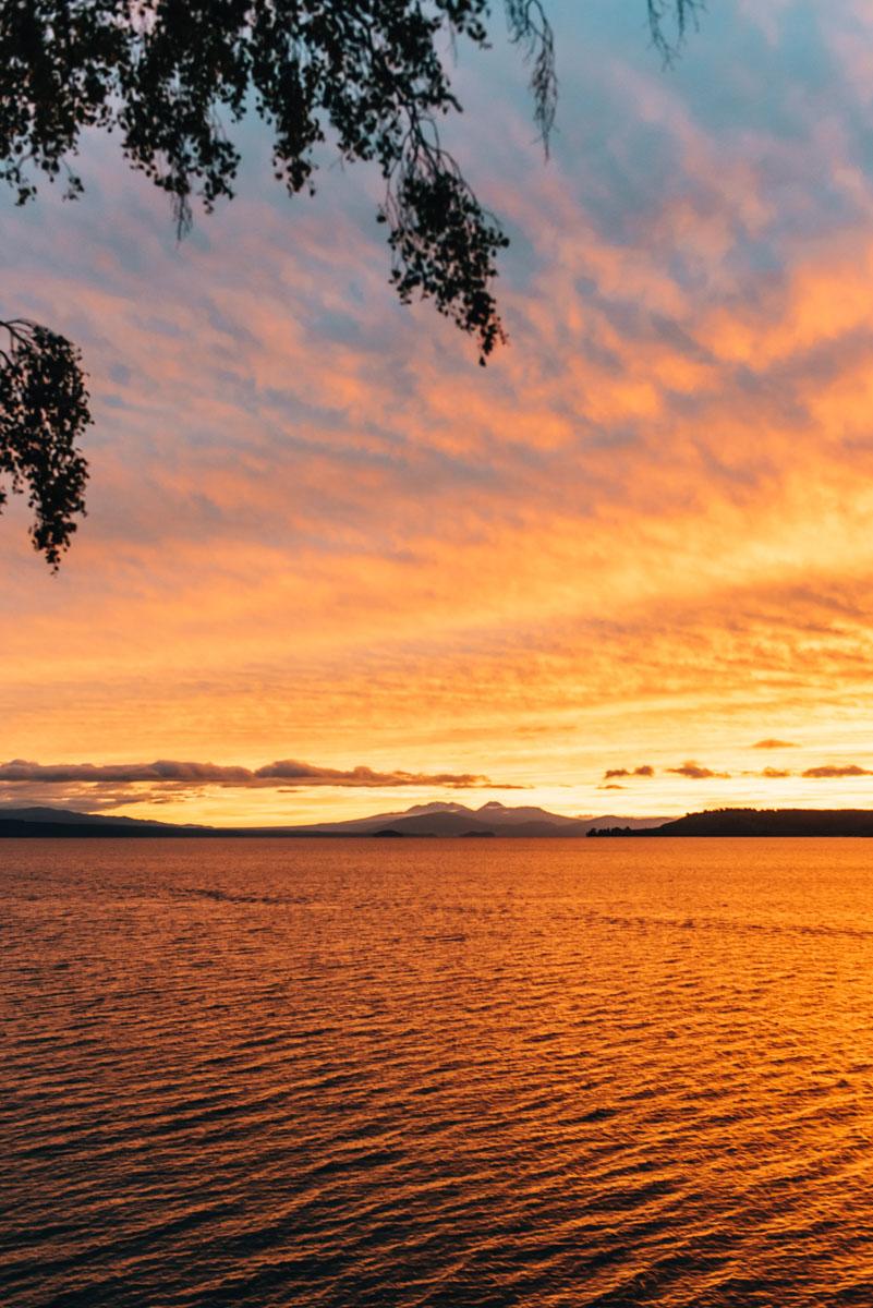Sonnenuntergang Taupo