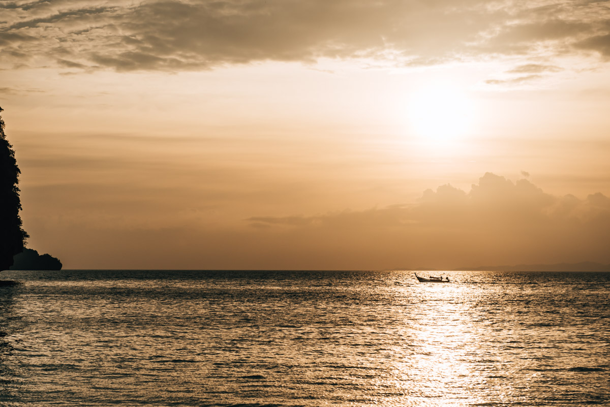 4 Island Tour Krabi Sonnenuntergang