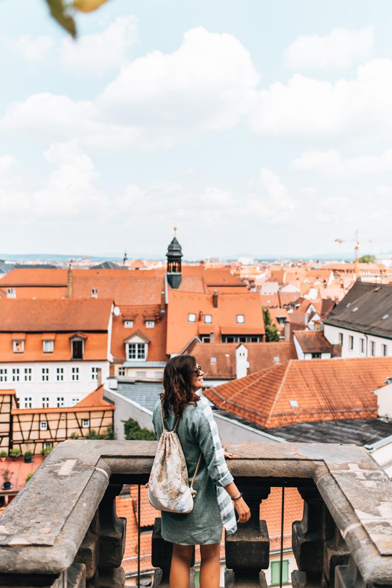 Rosengarten Bamberg Aussicht