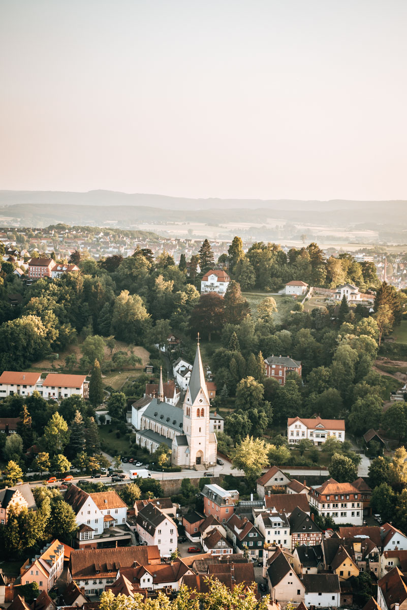 Sonnenuntergang Plassenburg