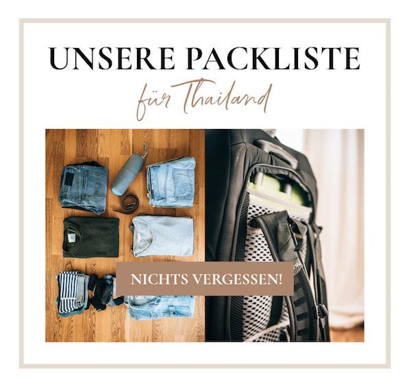 Packliste Reisen Thailand