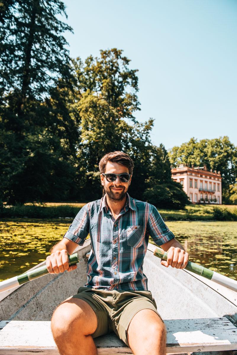 Park Schönbusch Ruderboot