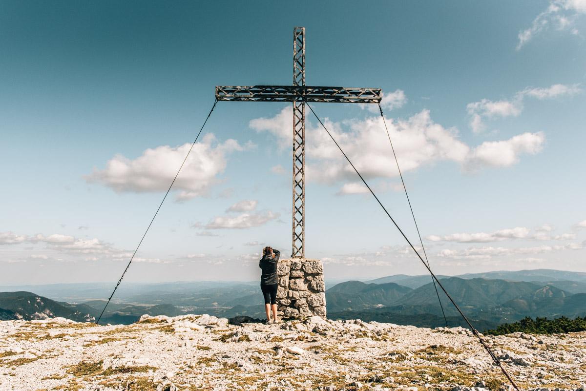 Gipfelkreuz Rax