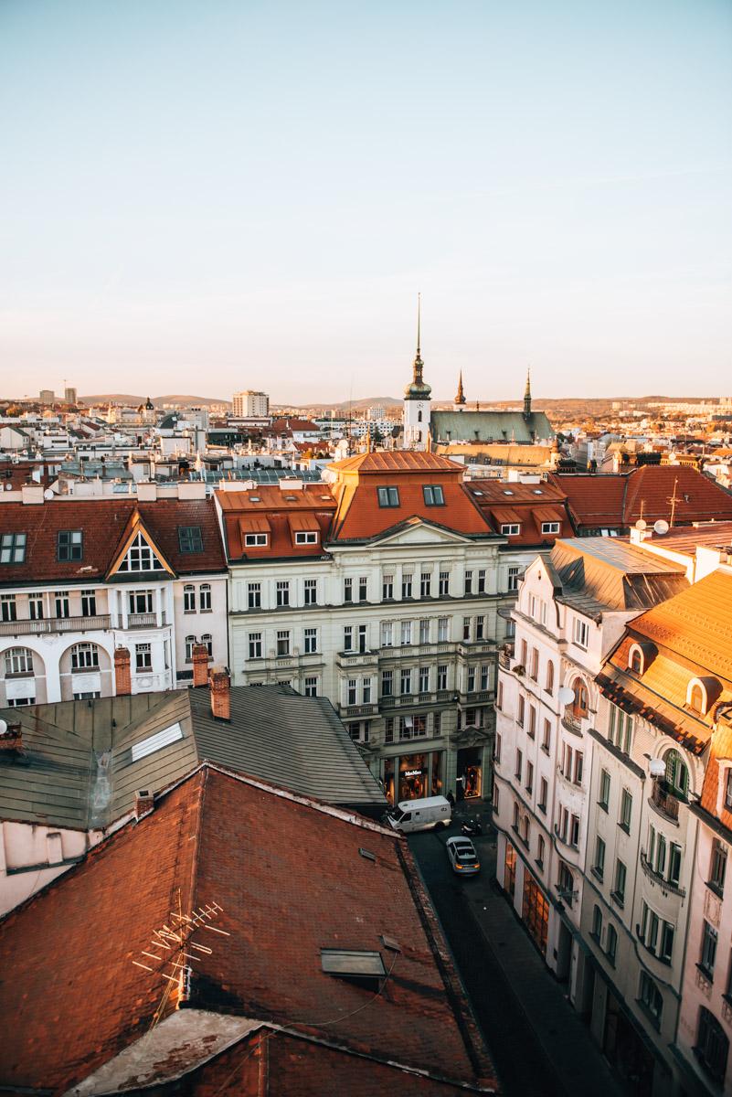 Rathaus Brno Aussicht