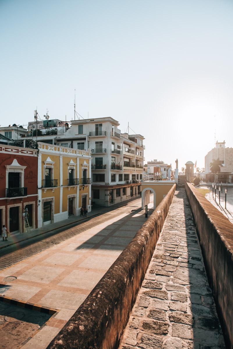 Campeche-Stadtmauer Sonnenuntergang