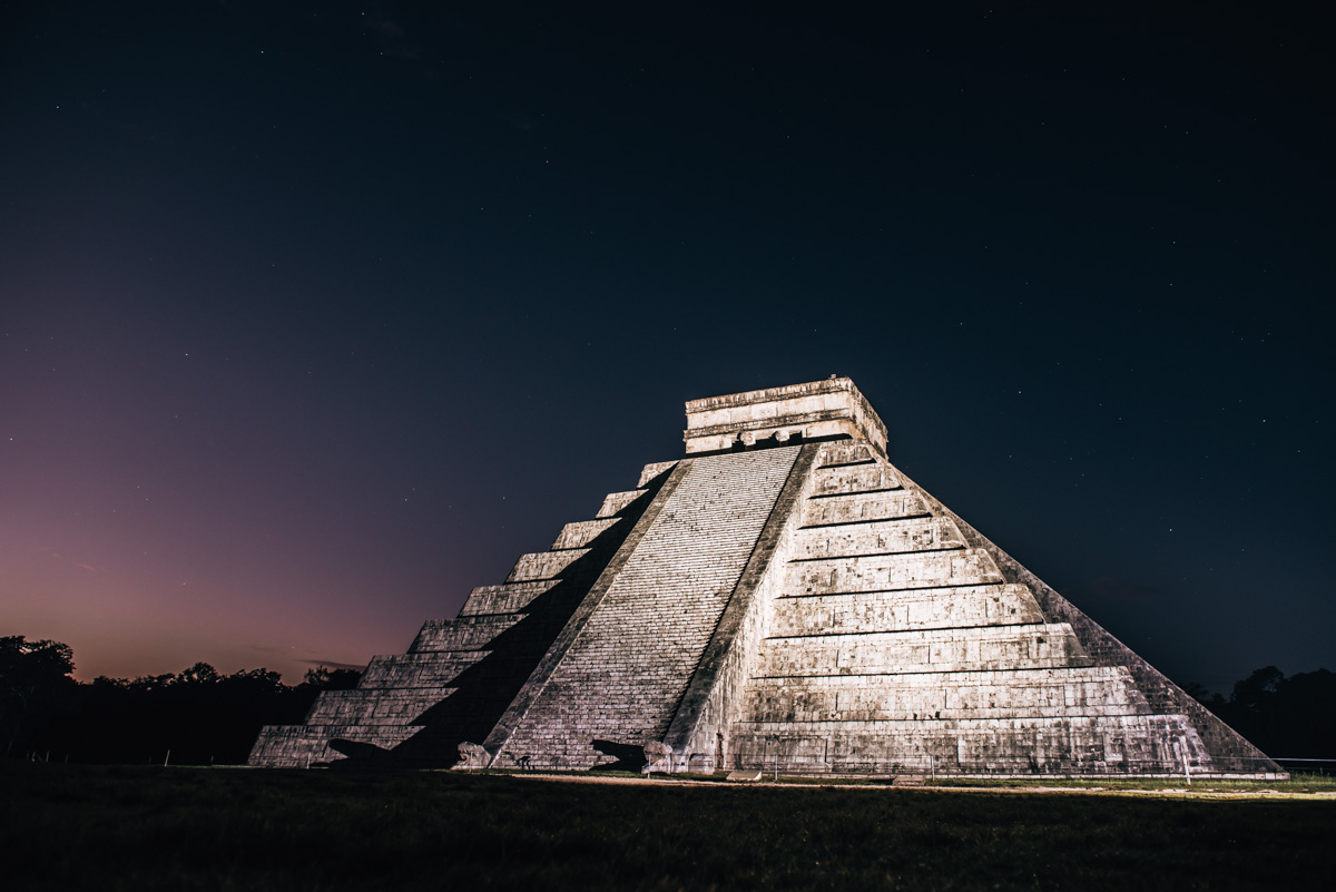Chichen Itza starry sky