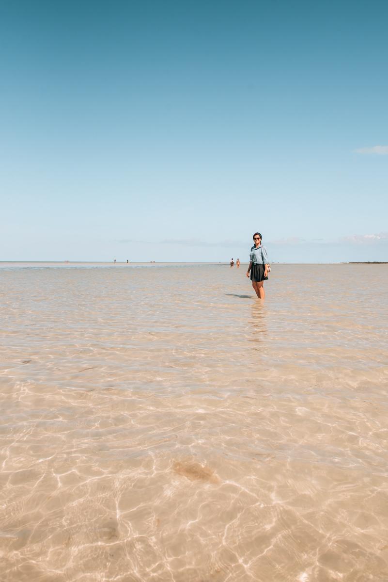 Holbox Schwimmen