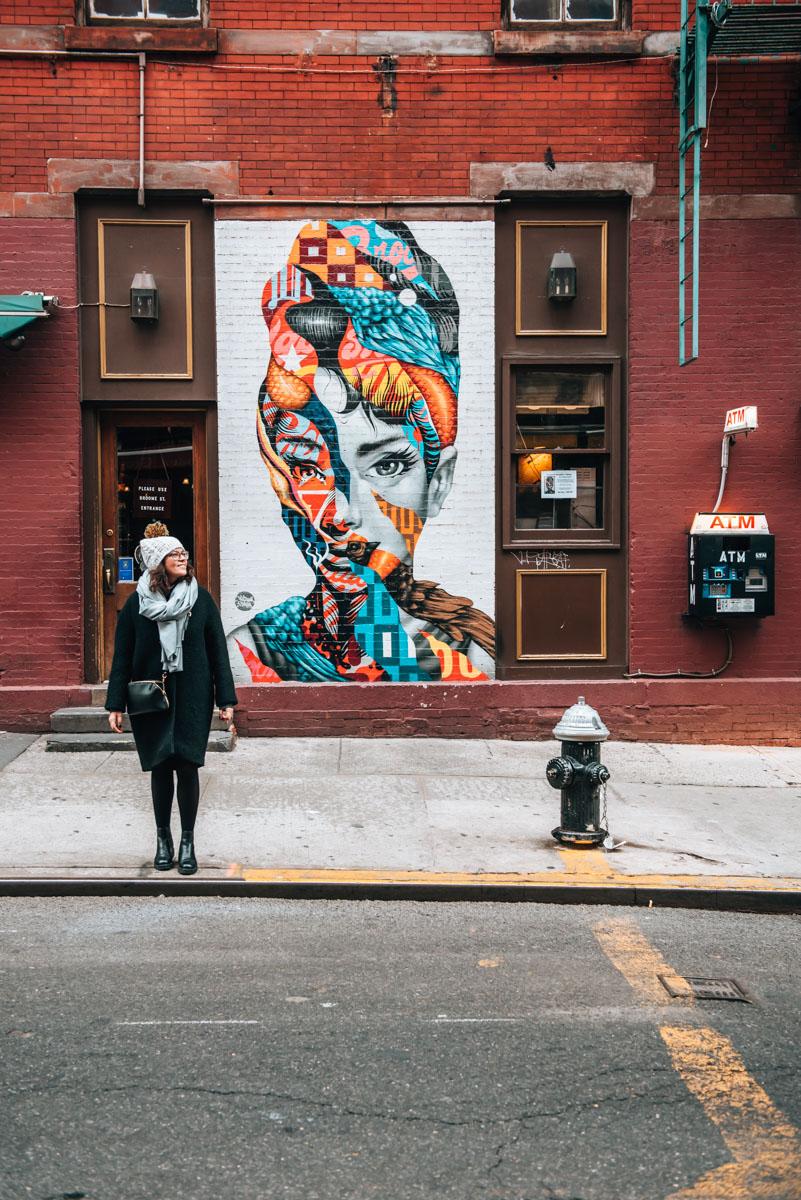 New-York Audrey Hepburn Mural